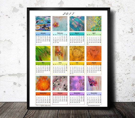 #2017 #CALENDAR, #Abstract #Paintings, #11x14 #Printable #WallArt #ARTCALENDAR #2017, #AbstractPaintings, #8x10 #Printable, Buy Two Get One #Free, #Downloadable, #NewYear #Gift, #ArtLovers, #WallArt #WallDecor, #DeskCalendar #PrintableCalendar by #JuliaApostolova on #Etsy