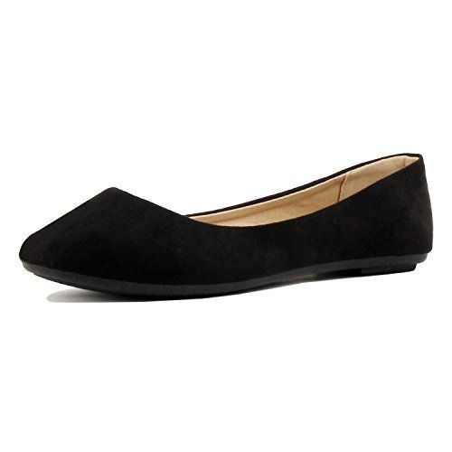 9735efe85299d Guilty Shoes Womens Classic Comfortable Round Toe Slip On Ballet ...