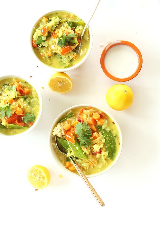 Simple Coconut Curry with Veggies and Coconut Quinoa | minimalist baker | #vegan #glutenfree