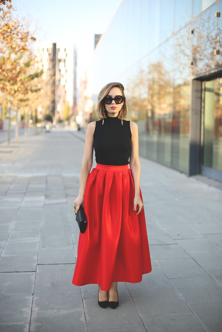 Red Tulip Skirt
