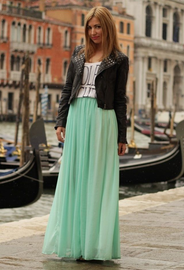 Image result for maxi dress with graphic tee