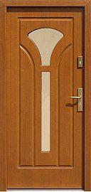 Klasyczne drewniane drzwi zewnętrzne model 508s2 w kolorze ciemny dąb