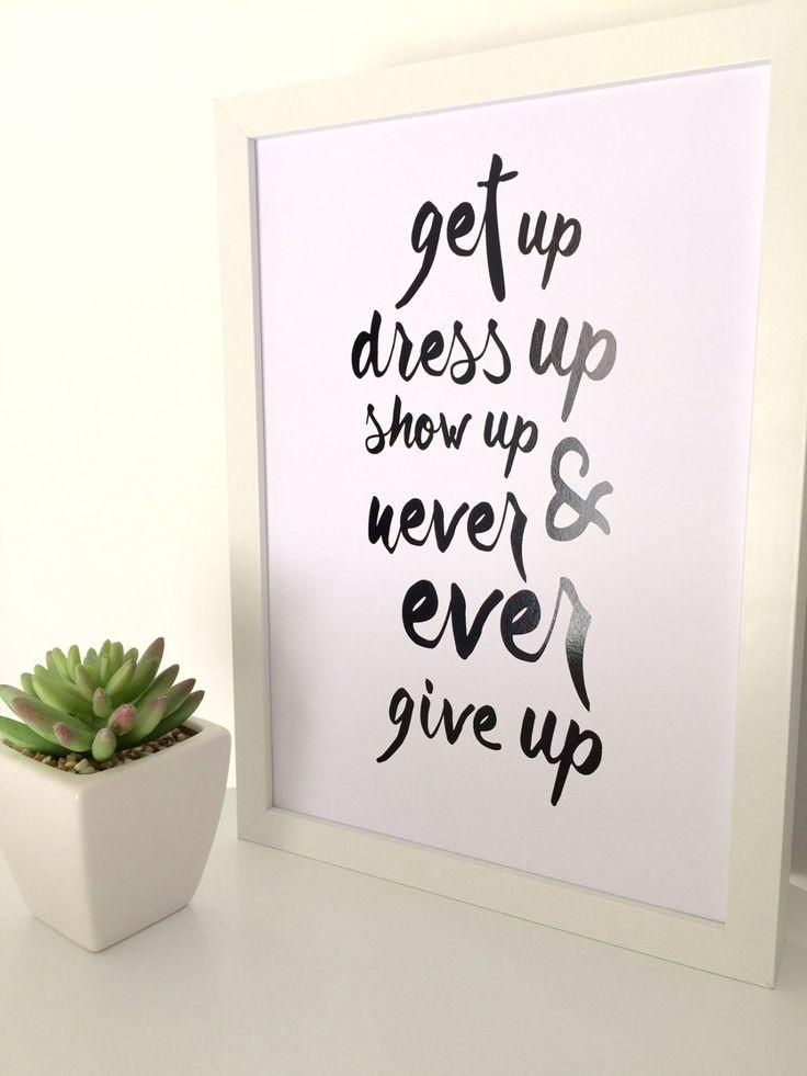 Motivational quote print, black foil print, inspirational print, wall art, typography, black and white, foil print, art prints by LoveRubyRedDesign on Etsy