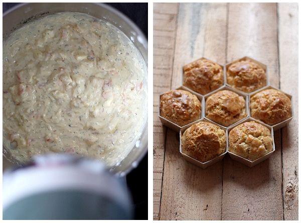 Recette de muffins au saumon et à la fêta