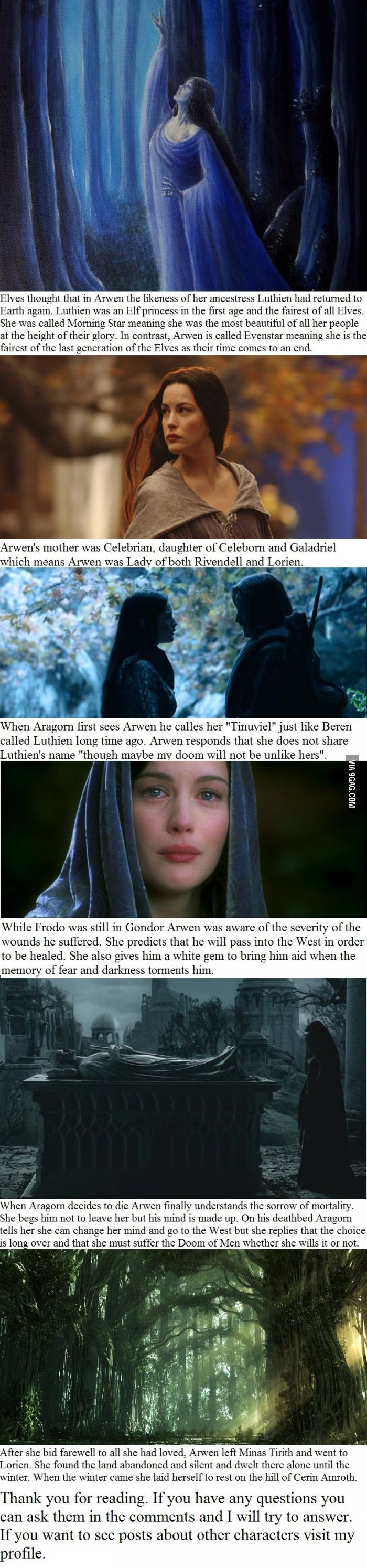 6 Arwen facts you may not have known - 9GAG