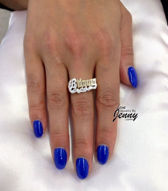 finger custom single ring products jewelry line name snash one plate nameplate rings
