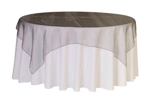 Silver Organza Tablecloth or Overlay