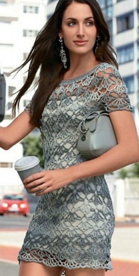 Платье вязка схемы