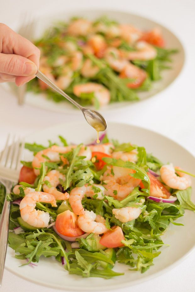 A Delicious King Prawn And Rocket Salad An Ideal Summer Salad With A Zesty Tasting