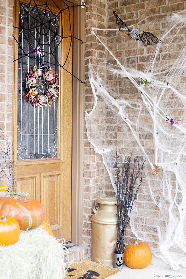 Halloween Front Porch Decor Ideas with #WorldMarketTribe!  Capturing-Joy.com #ad