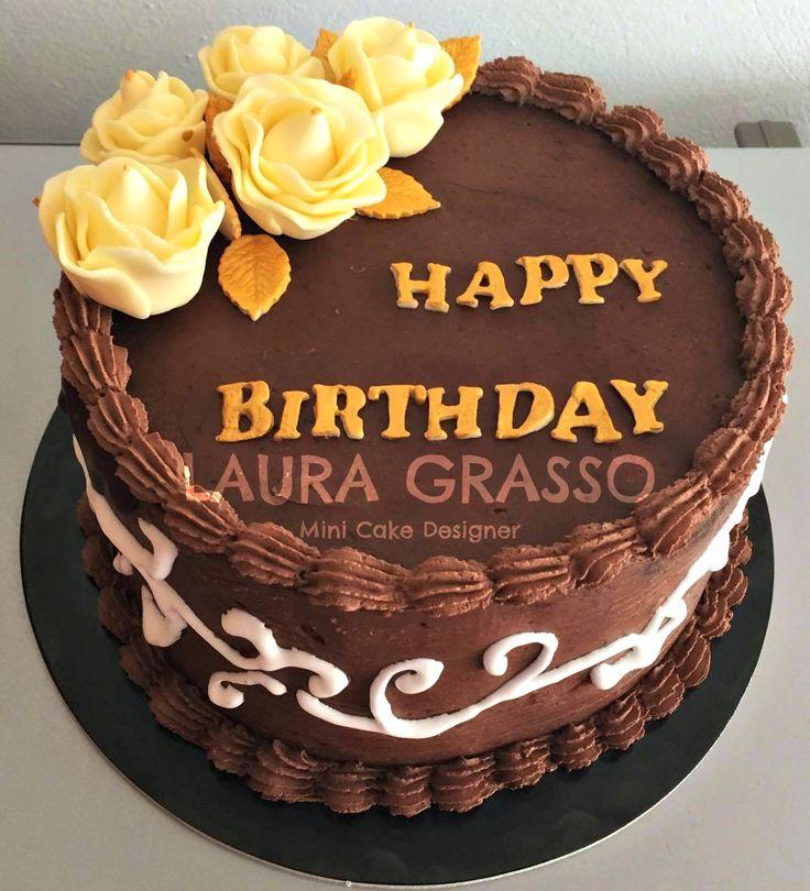 Mud Cake Happy Birthday con crema al burro