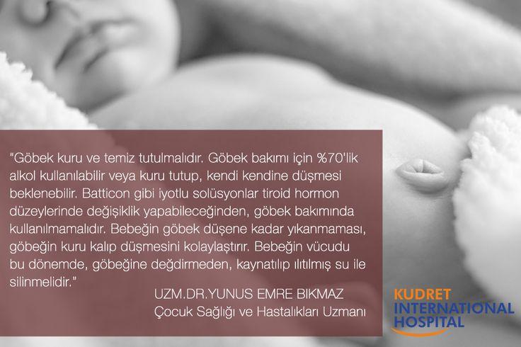 Yenidoğan bebeğin göbek bakımı nasıl olmalıdır? #kudretinternational #ankara #turkey #turkiye #hastane #hospital #sağlık #health #healthy #hospital