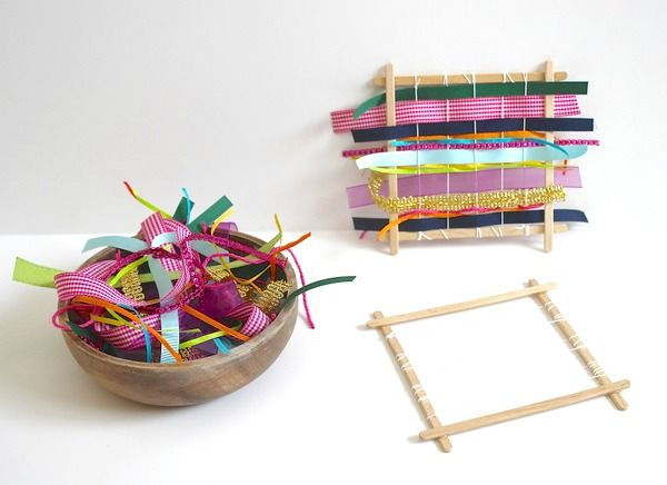 Kids can learn so much when taking part in weaving activities and crafts. Keep on reading to find out how to make your own weaving loom for kids using popsicle sticks!