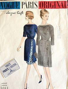 Vintage Vogue Paris Original 1044