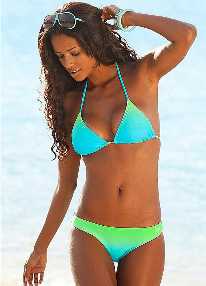 KangaROOS Turquoise Triangle Bikini. love the colors!