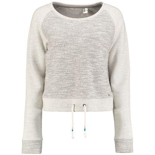#O´NEILL #Damen #Sweatshirt #´WILD´ #mischfarben / #weiß - Sweatshirt im klassischen Crew-Shape in melierten Farben und mit Kordelzug am Saum, das im Brustbereich aus Bouclé-Material gefertigt ist. Mit dem Wild Sweater von O´NEILL fühlst du dich überall zu Hause!