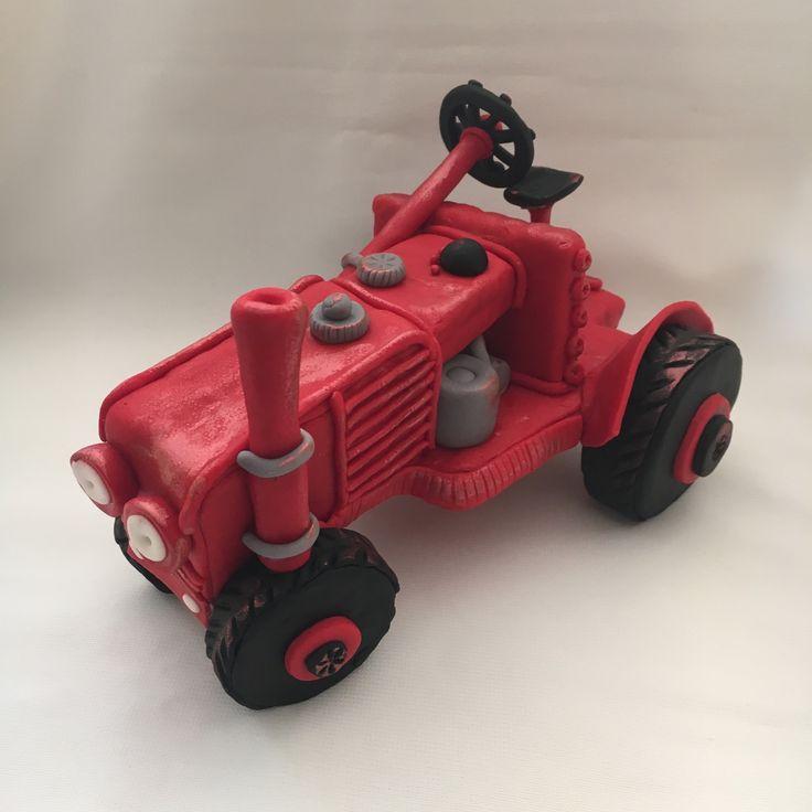 Tractor fondant figurine