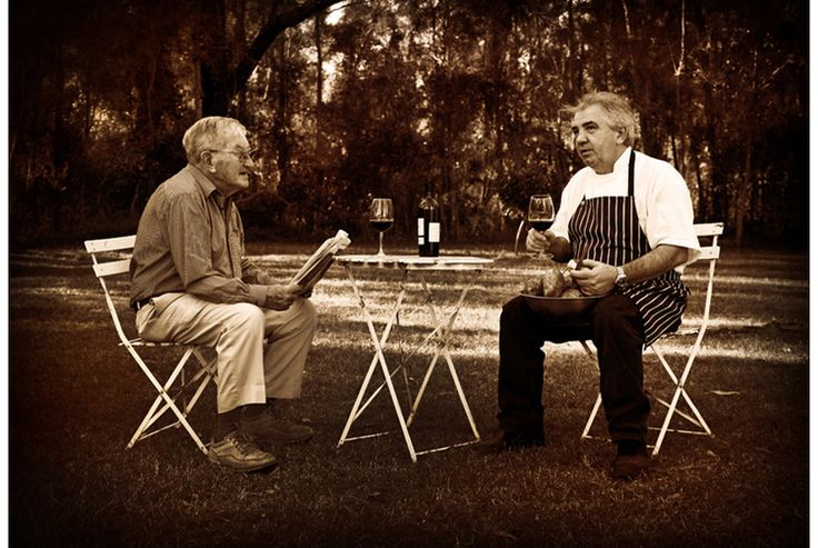 Two of the Hunter's original Chefs - Frank Margan & Robert Molines #winecountry