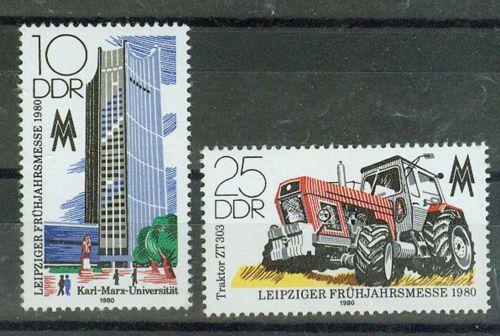 DDR-Briefmarken-1980-Leipziger-Messe-Mi-Nr-2498-2499