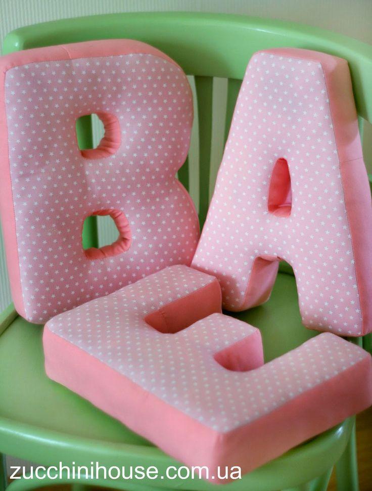 Ева / Eve pillows-letters | Домик маленького Цукиня