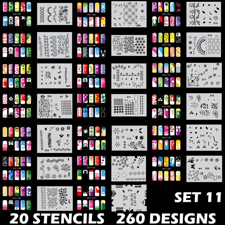 Best 25 airbrush nail art ideas on pinterest 3d nails art set 11 260 airbrush nail art stencil designs 20 template sheets kit brush paint prinsesfo Gallery