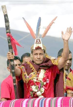 Ollanta Humala, president of Peru, dressed up.