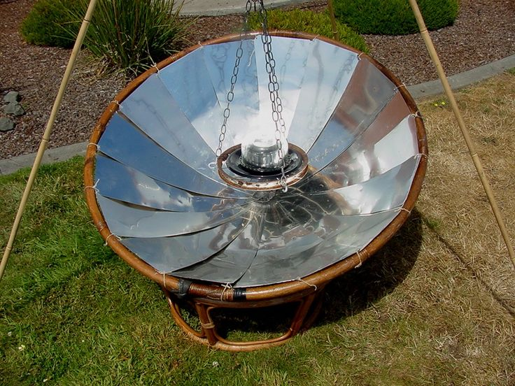 Papasan Chair Solar Cooker - Appropedia: The sustainability wiki