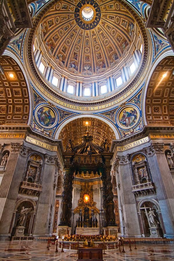 St. Peters Basilica, Vatican City, Rome, Italy