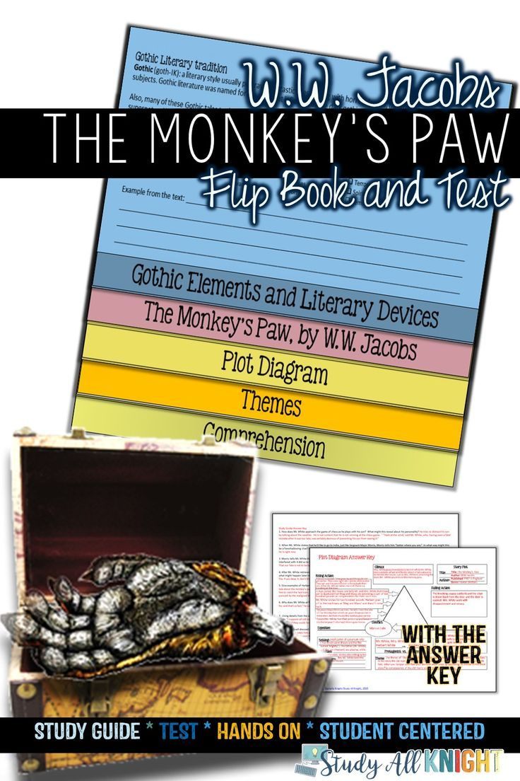 The Monkey's Paw Quick Story Literature Information Flip Guide, Take a look at and Reply Keys