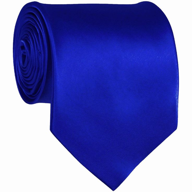 Royal Blue Solid Color Ties Mens Neckties