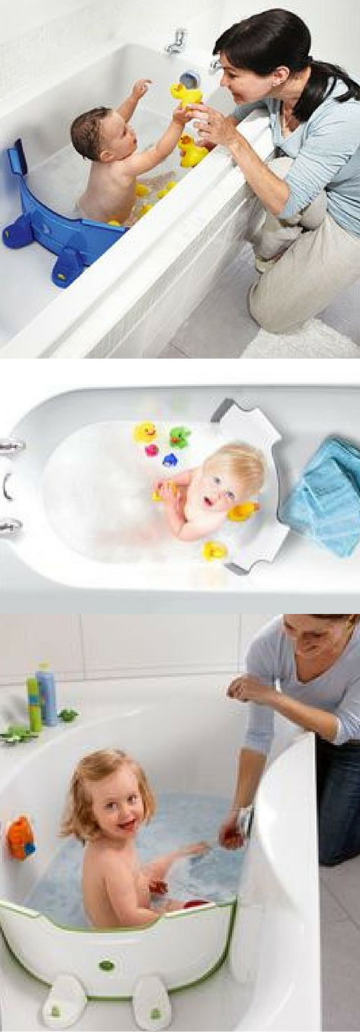 Baby Dam Bath Divider. This saves to much water during bath time! Plus it keeps all their toys close! Such a great gift idea for a mom-to-be!