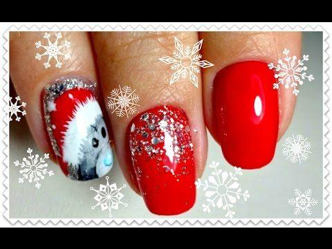 Новогодний маникюр/Красные ногти/Маникюр одной фрезой/гель-лаки F.O.X.