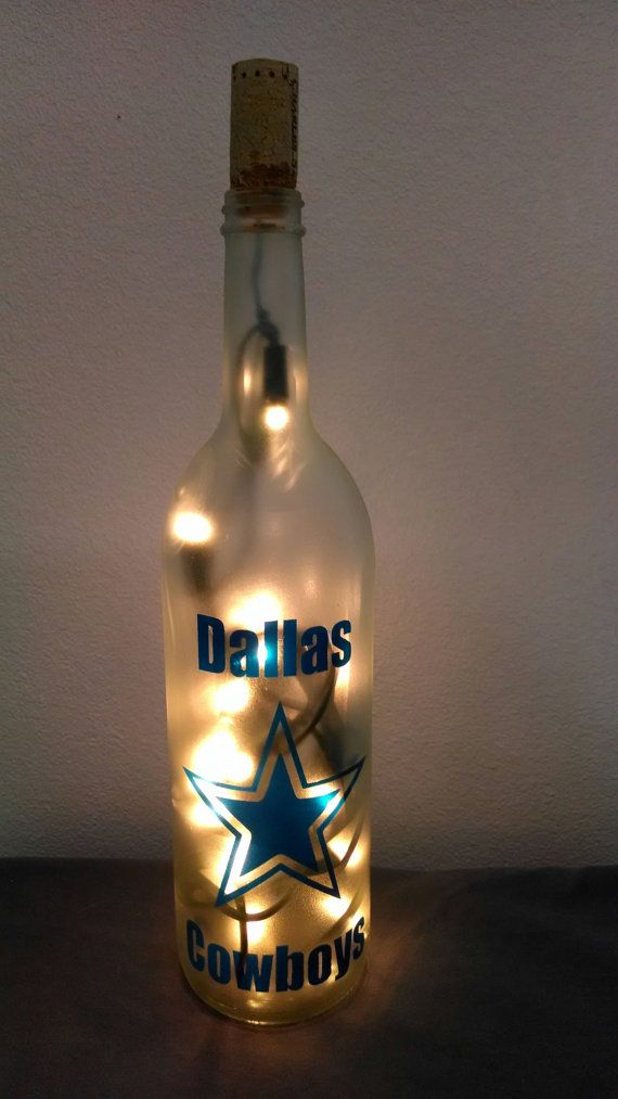 Dallas Cowboys   Hand painted  Lighted Wine by LightedBottle, $20.00