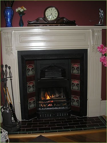Warm and toasty by the fireplace ... Who ate all the marshmallows?!?! at Brantwood Cottage Blue Mountains Accommodation in Blackheath NSW