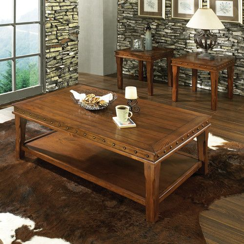 Brady Furniture Industries Albany Park 3 Piece Coffee Table Set