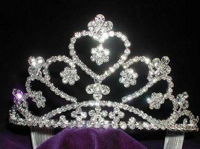 Bridal Princess Queen Rhinestone Crown Tiara