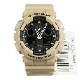 G-Shock Casio Beige Analog Digital Magnetic Resist Sports Watch GA-100L-8A GA-100L