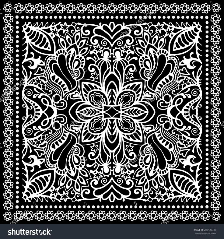stock-vector-black-and-white-bandana-print-silk-neck-scarf-or-kerchief-square-pattern-design-style-for-print-on-288425735.jpg (1500×1600)
