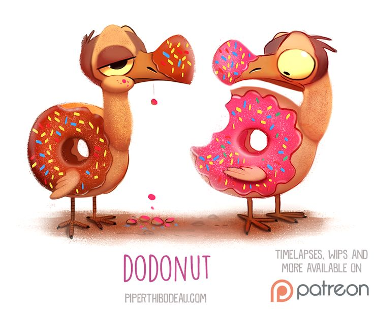 Daily+Paint+1521.+Dodonut+by+Cryptid-Creations.deviantart.com+on+@DeviantArt