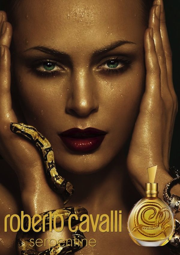Image result for roberto cavalli snake advert