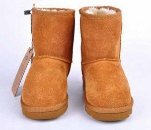 Ugg 5281 Clic Short Chestnut Boots Kids Model 074 Save 60