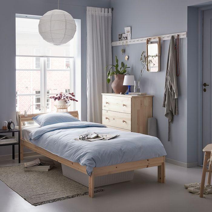 Neiden Sengestel Birk Fyr Luroy 90x200 Cm Ikea In 2020 Wooden Bed Frames Wooden Bed Bed Frame