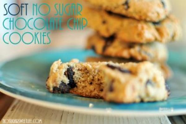 Soft No Sugar Chocolate Chip Cookies || No Sugar Sweet Life