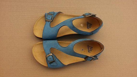 20% Off, Free Shipping, vegan, vegan Sandals, Summer Shoes, blue Sandals, Straps Sandals vegan TIGRIS BLUE