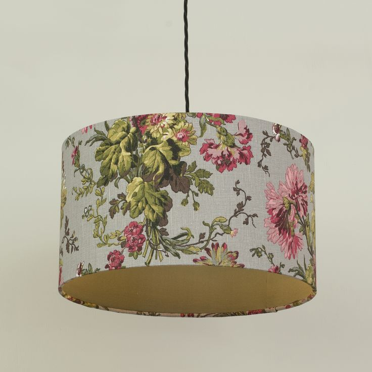 Jim Lawrence Cylinder Shade in gorgeous grey and pink Betony Linen fabric find our collection of lampshades here http://www.jim-lawrence.co.uk/node/4857/lamp-shades and what you can't find in our Classic Collection online, you can create yourself with our Lampshade Builder or order as a Bespoke Shade
