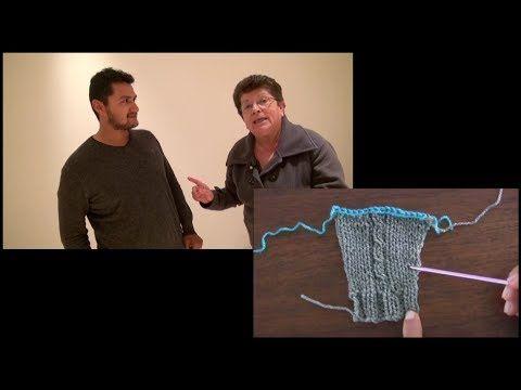 Medidas en tejidos con Esperanza Rosas (chompa=suéter) - YouTube