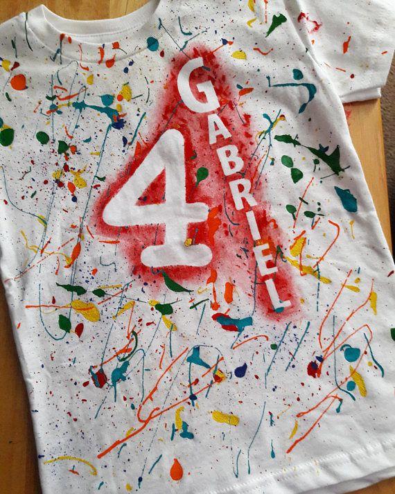 9dd6f058c8a92 Art Shirt, Art Party, Paint Splatter Shirt, Birthday Shirt, Custom ...