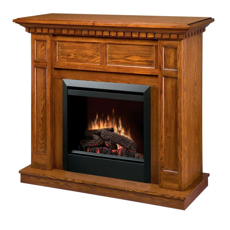 """Dimplex Caprice 23"""" Electric Fireplace with Wooden Mantel, UL Listed (DFP4743O)"""