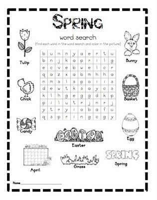 FREE spring word search--my kids LOVE word searches!!