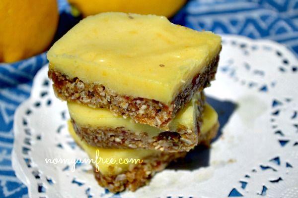 Vegan Raw Gluten Free Nut Free Lemon Bar Cookies